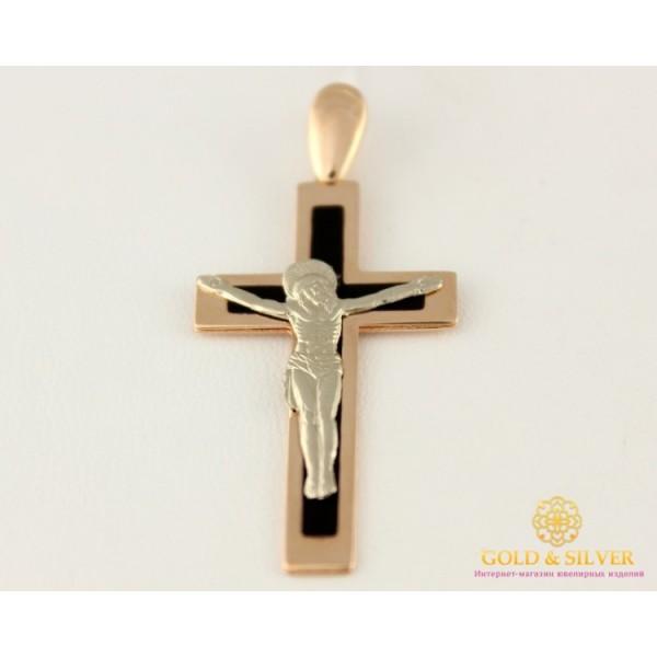 Золотой Крест с черной эмалью 2,6 грамма 210103е , Gold &amp Silver Gold & Silver, Украина
