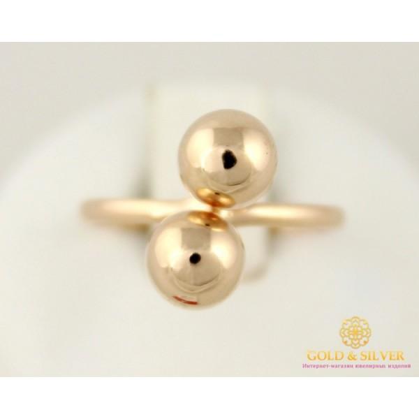 Золотое Кольцо 585 проба. Женское кольцо с красного золота Поцелуи Шарики 1,38 грамма 16,5 размер 391079 , Gold & Silver Gold & Silver, Украина