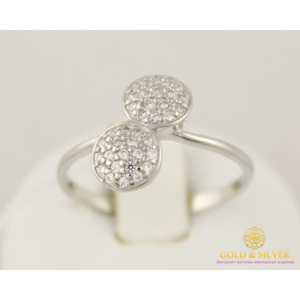 Серебряное кольцо 925 проба.  Женское Кольцо Поцелуи с камнями 320875с , Gold & Silver Gold & Silver, Украина