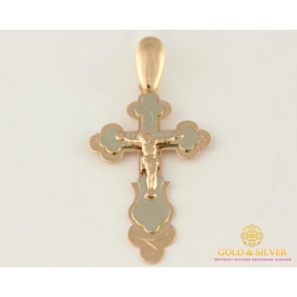 Золотой Крест 585 проба. Крест с красного и белого золота, 1,8 грамма 210034 , Gold &amp Silver Gold & Silver, Украина