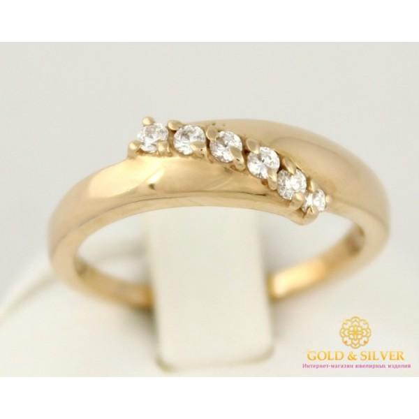 Золотое кольцо 585 проба. Женское кольцо 6 камней 4,25 грамма кв197и , Gold & Silver Gold & Silver, Украина