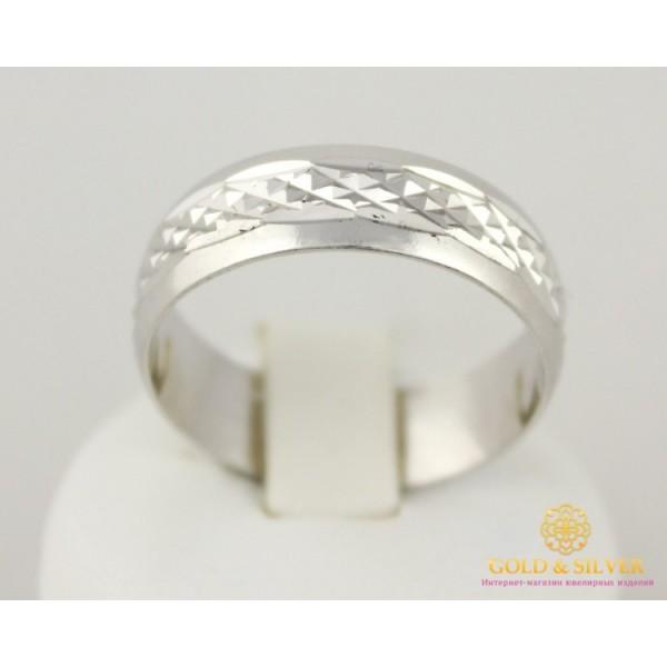 Серебряное кольцо 925 проба. Обручальное Кольцо с алмазной огранкой. 1701/1 , Gold &amp Silver Gold & Silver, Украина