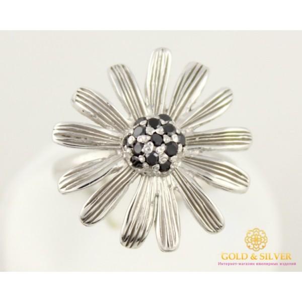 Серебряное кольцо 925 проба. Женское Кольцо Ромашка 6,07 грамма 1322 , Gold & Silver Gold & Silver, Украина