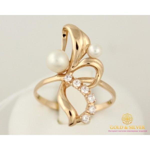 Золотое кольцо 585 проба. Женское Кольцо с красного золота, с вставкой Жемчуг. 380081 , Gold & Silver Gold & Silver, Украина