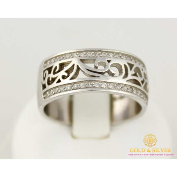 Серебряное кольцо 925 проба. Женское Кольцо широкое 6,39 грамма 1673 , Gold & Silver Gold & Silver, Украина