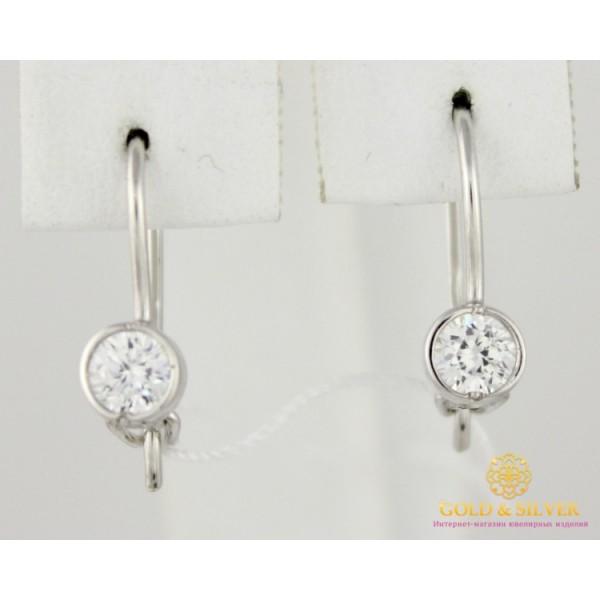 Серебряные серьги 925 проба. Женские серебряные Серьги 1,22 грамма 470701с , Gold & Silver Gold & Silver, Украина