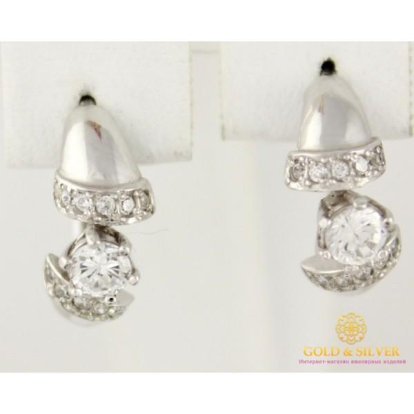 Серебряные серьги 925 проба. Женские серебряные Серьги Пикассо 2203р , Gold &amp Silver Gold & Silver, Украина