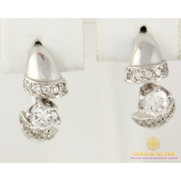 Серебряные серьги 925 проба. Женские серебряные Серьги Пикассо 2203р , Gold & Silver Gold & Silver, Украина