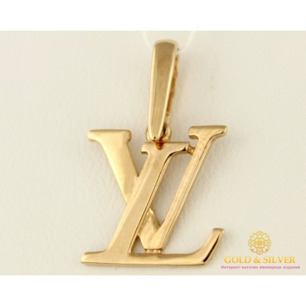 Золотой Кулон 585 проба. Женский Подвес с красного золота Луи Витон пб081и , Gold & Silver Gold & Silver, Украина