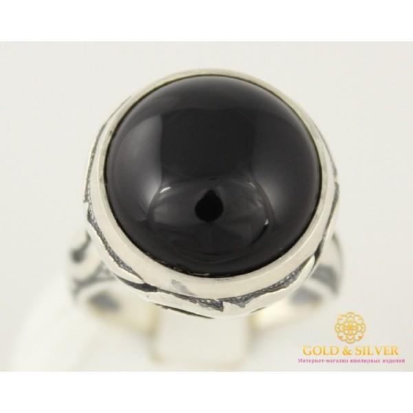 Серебряное кольцо 925 проба. Женское Кольцо ретро с вставкой оникса, 6,63 грамма. к021 , Gold &amp Silver Gold & Silver, Украина