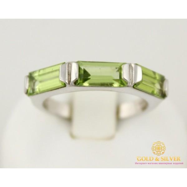 Серебряное кольцо 925 проба. Женское серебряное Кольцо с вставкой Хризолит. 1133 , Gold & Silver Gold & Silver, Украина