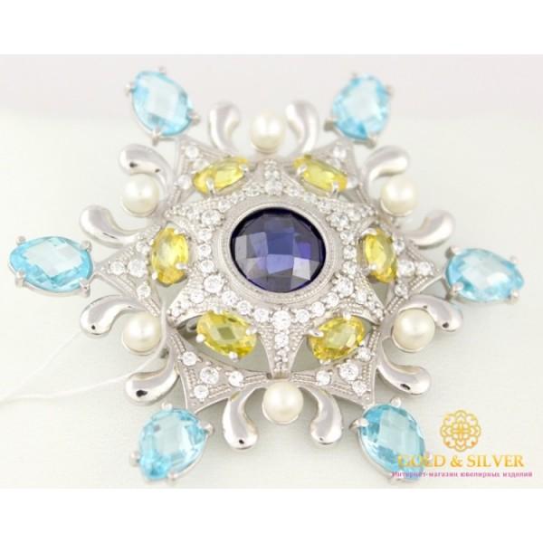 Серебряная Женская брошь 925 проба.Серебряная брошка снежинка 670025с , Gold & Silver Gold & Silver, Украина