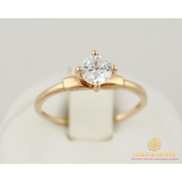 Золотое кольцо 585 проба. Женское Кольцо с красного золота, 1,45 грамма 320101 , Gold &amp Silver Gold & Silver, Украина