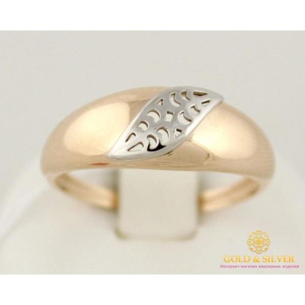 Золотое кольцо 585 проба. Женское Кольцо с Красного и Белого золота, без вставок, 2,52 грамма 310152 , Gold &amp Silver Gold & Silver, Украина