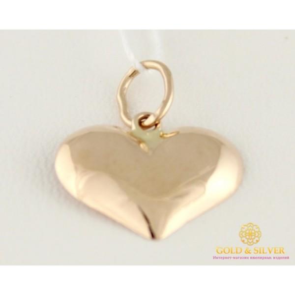 Золотой кулон 585 проба.  Подвес сердечко из красного золота, 0,49 грамма 100125 , Gold & Silver Gold & Silver, Украина