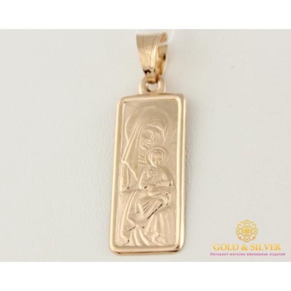 Золотая Нательная Икона 585 проба. Подвес с красного золота, Божья Матерь 100389 , Gold &amp Silver Gold & Silver, Украина