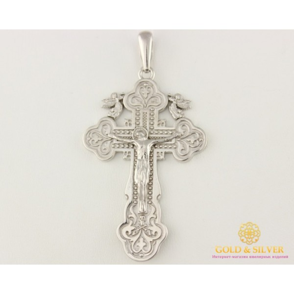 Серебряный крест 925 проба. Крест родированый 12,51 грамма 250040с , Gold &amp Silver Gold & Silver, Украина