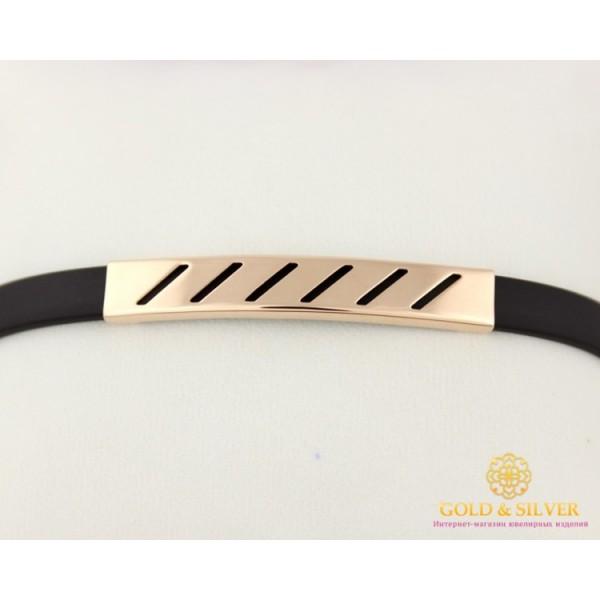 Золотой браслет 585 проба. Браслет с красного золота с каучуком. 910026 , Gold & Silver Gold & Silver, Украина