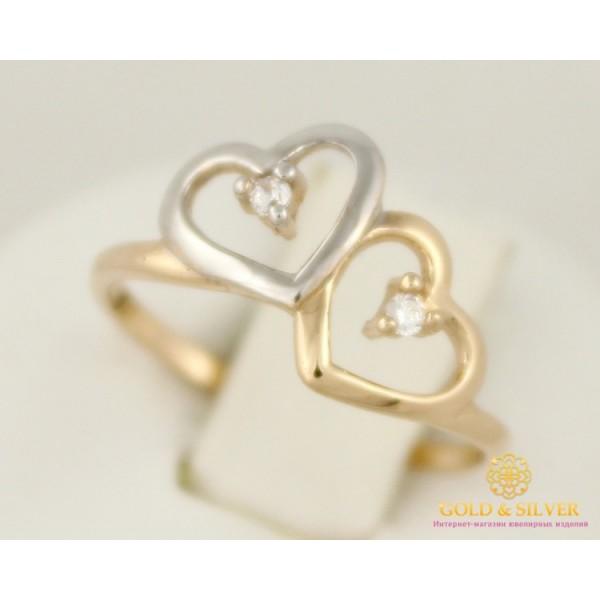 Золотое кольцо 585 проба. Женское Колечко Сердечки 14 размер 11350 , Gold & Silver Gold & Silver, Украина