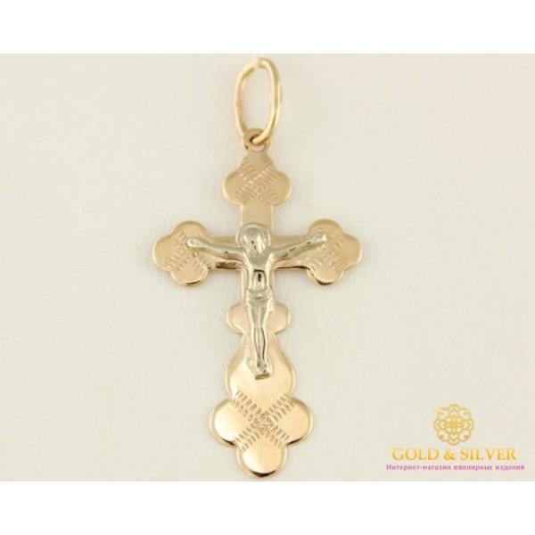 Золотой крестик красное и белое золото 34003 , Gold & Silver Gold & Silver, Украина