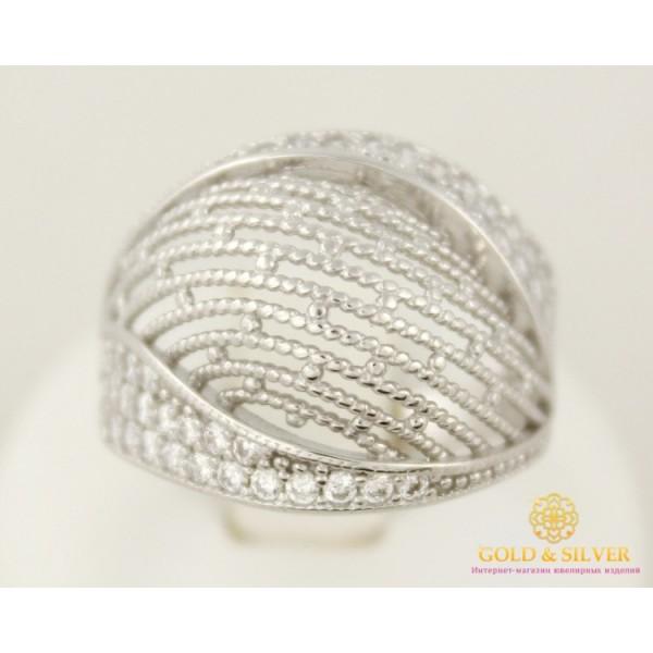 Серебряное кольцо 925 проба. Женское Кольцо широкое, россыпь камней. с10305 , Gold & Silver Gold & Silver, Украина