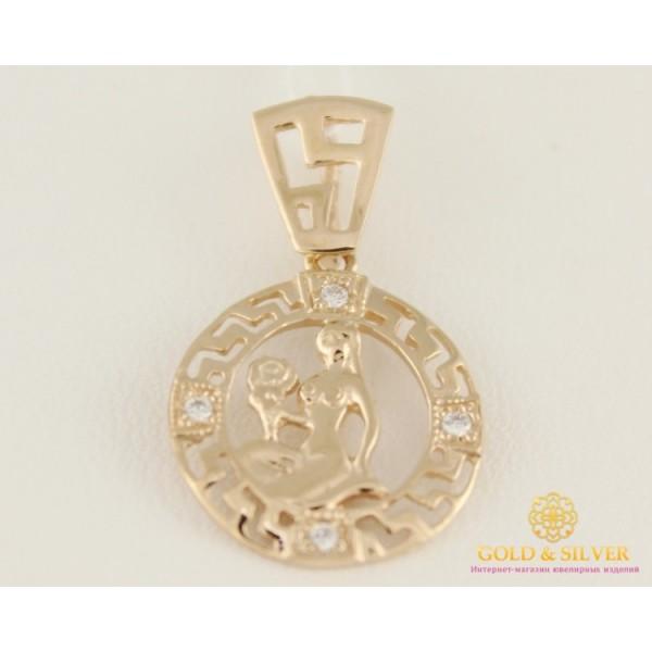 Золотой Кулон 585 проба. Подвес с красного золота, Знак Зодиака Дева золотой.33026 , Gold & Silver Gold & Silver, Украина