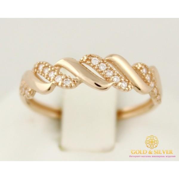 Золотое кольцо 585 проба. Женское кольцо с красного золота. 1,32 грамма. кв438и , Gold & Silver Gold & Silver, Украина