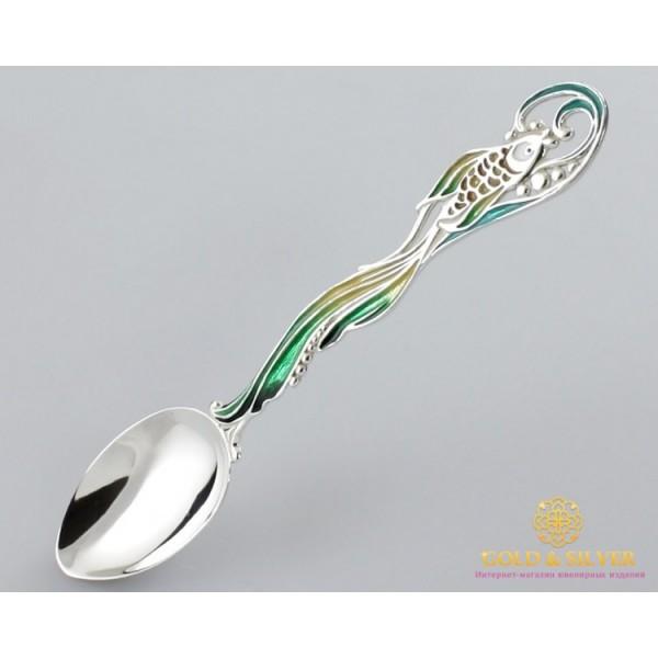 Серебряная ложка 925 проба. Ложка детская. Золотая рыбка 6005. , Gold & Silver Gold & Silver, Украина