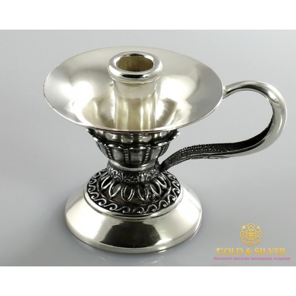 Серебряный подсвечник 925 пробы. Подсвечник под церковную свечку. 6115 , Gold & Silver Gold & Silver, Украина