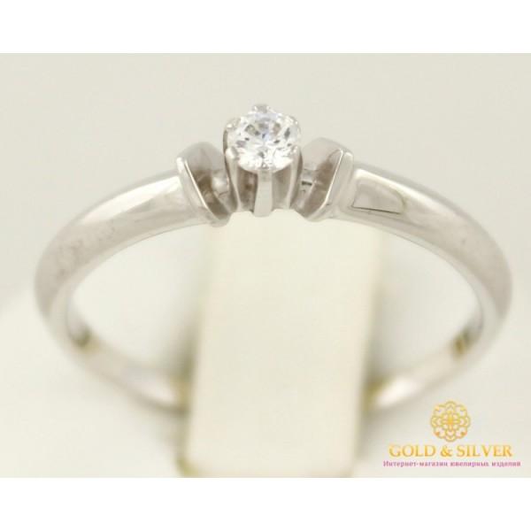 Золотое кольцо 585 проба. Кольцо женское белое золото с камнями Swarovski. кв645Бси , Gold & Silver Gold & Silver, Украина