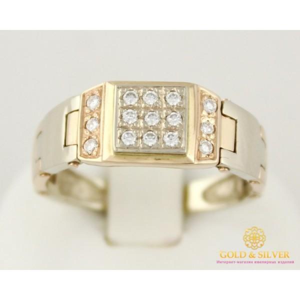 Золотое кольцо 585 проба. Мужское кольцо с красного и белого золота. Кольцо динамическое. 5,39 грамма. пч032и , Gold & Silver Gold & Silver, Украина