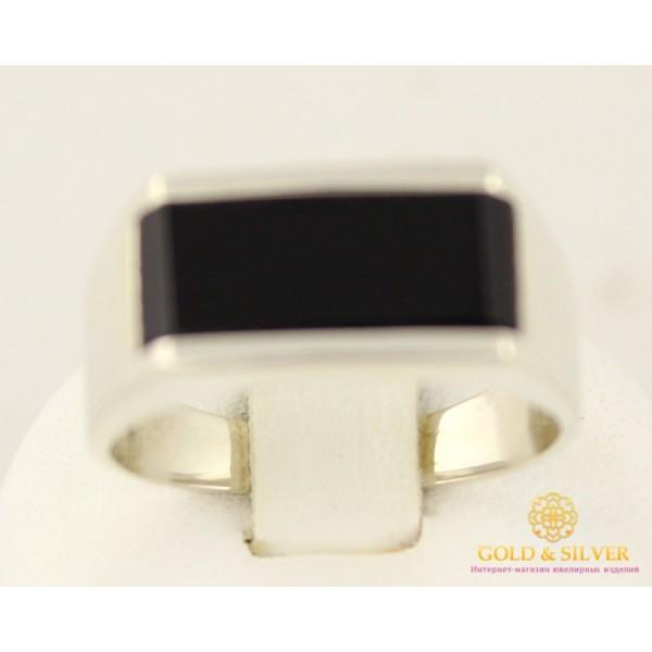 Серебряное кольцо 875 проба. Кольцо мужское обсидиан им. 313 , Gold & Silver Gold & Silver, Украина