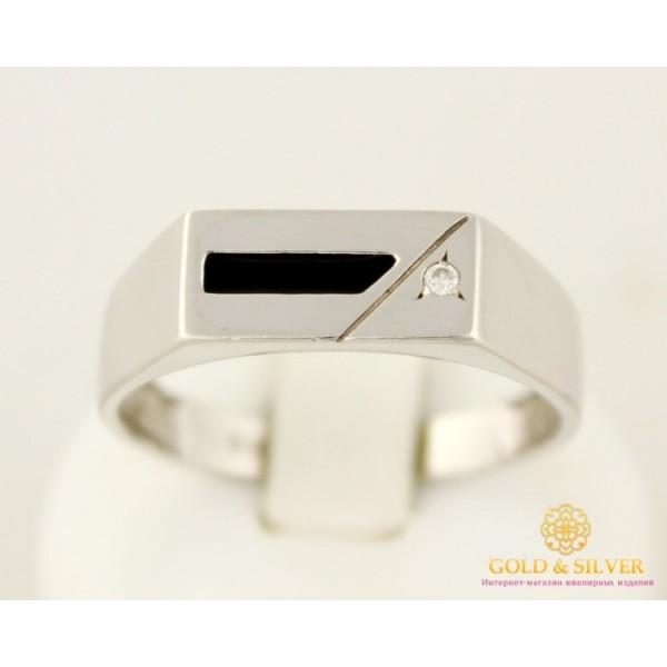 Серебряное кольцо 925 проба. Мужское кольцо с черной эмалью. 1569э , Gold &amp Silver Gold & Silver, Украина