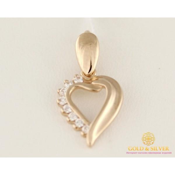 Золотой подвес 585 проба. Кулон с красного золота, сердце. 150014 , Gold & Silver Gold & Silver, Украина