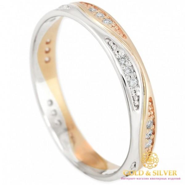Золотое кольцо с бриллиантами 585 проба. Кольцо обручальное красное и белое золото. 13900 , Gold &amp Silver Gold & Silver, Украина
