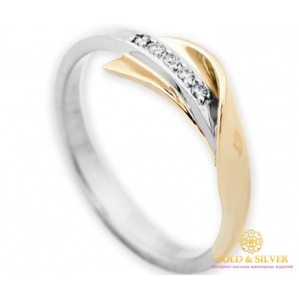 Золотое кольцо 585 проба. Кольцо женское красное и белое золото с вставкой бриллианта. 14930 , Gold &amp Silver Gold & Silver, Украина