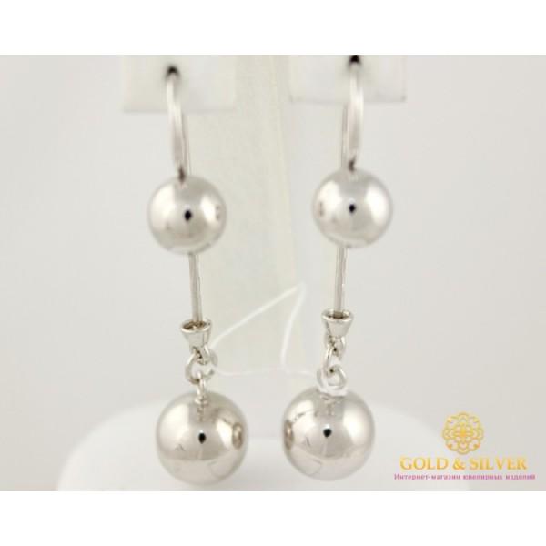 Серебряные серьги 925 проба. Серьги серебряные женские шары 470106с  , Gold & Silver Gold & Silver, Украина