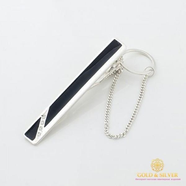 Серебряный зажим для галстука 925 проба. Мужской зажим серебряный. 8052/1е , Gold &amp Silver Gold & Silver, Украина