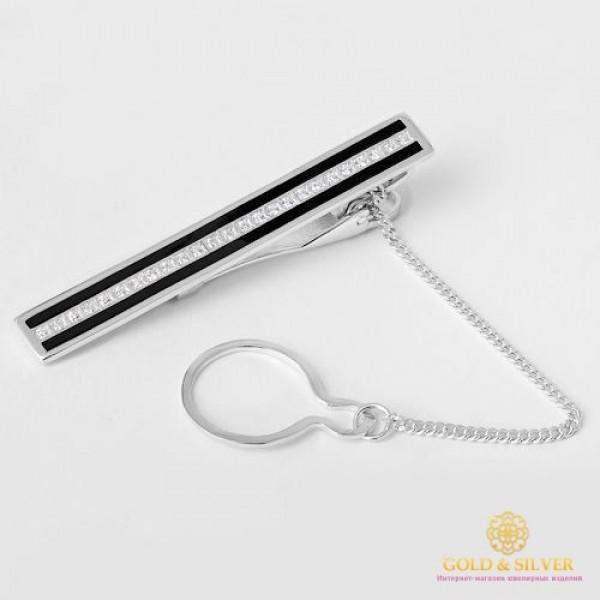 Серебряный зажим для галстука 925 проба. Мужской зажим серебряный. 8067е , Gold & Silver Gold & Silver, Украина