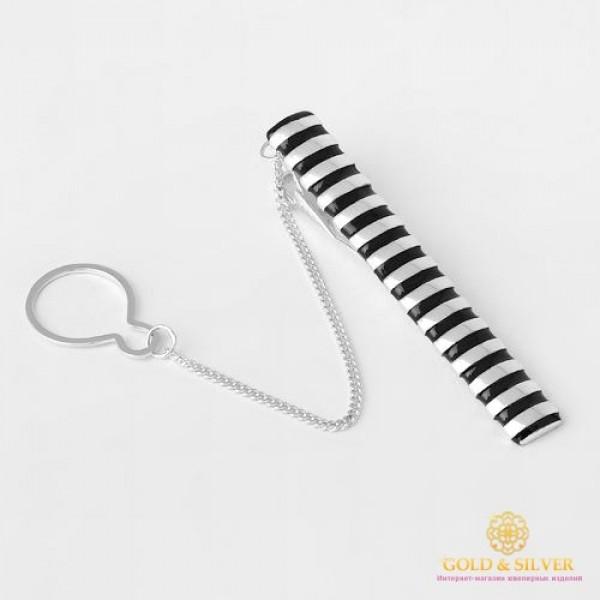 Серебряный зажим для галстука 925 проба. Мужской зажим серебряный. 8134е , Gold & Silver Gold & Silver, Украина