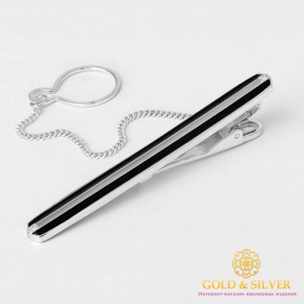 Серебряный зажим для галстука 925 проба. Мужской зажим серебряный. 8149е , Gold & Silver Gold & Silver, Украина