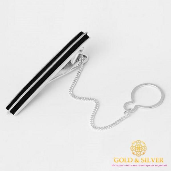 Серебряный зажим для галстука 925 проба. Мужской зажим серебряный. 8162е , Gold & Silver Gold & Silver, Украина