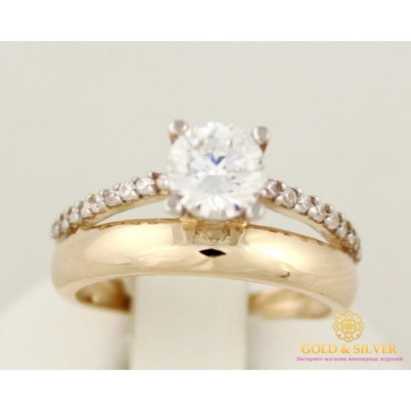 Золотое кольцо 585 проба. Женское кольцо с красного золота с фианитами. 11546 , Gold &amp Silver Gold & Silver, Украина