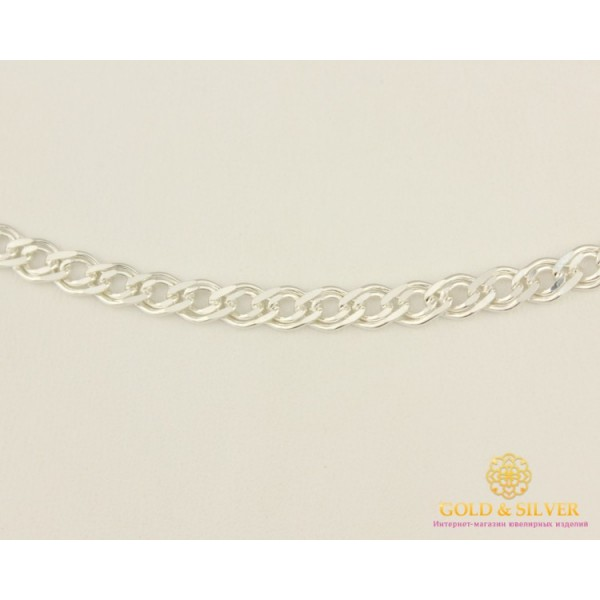 Серебряная цепь 925 проба. Женская серебряная цепочка плетение Мона Лиза. 90120206041 , Gold & Silver Gold & Silver, Украина