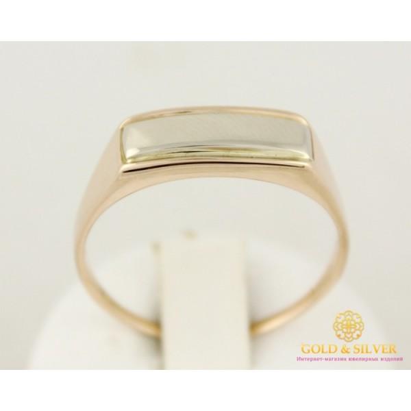 Золотое кольцо 585 проба. Мужское кольцо с красного и белого золота. 3,96 грамма. 310054 , Gold &amp Silver Gold & Silver, Украина