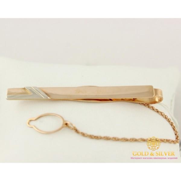 Золотой зажим для галстука 585 проба. Мужской зажим золотой. 8077690 , Gold & Silver Gold & Silver, Украина