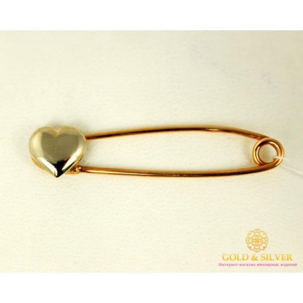 Золотая Булавка 585 проба. Булавка с красного и белого золота, Сердечко 660060 , Gold &amp Silver Gold & Silver, Украина