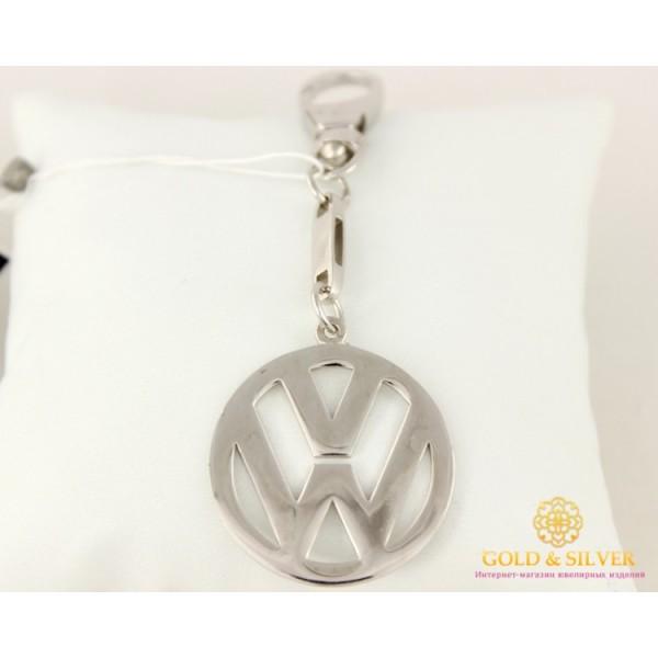 Серебряный Брелок  925 проба. Брелок автомобильный VW(volkswagen, фольксваген) 8086 , Gold &amp Silver Gold & Silver, Украина