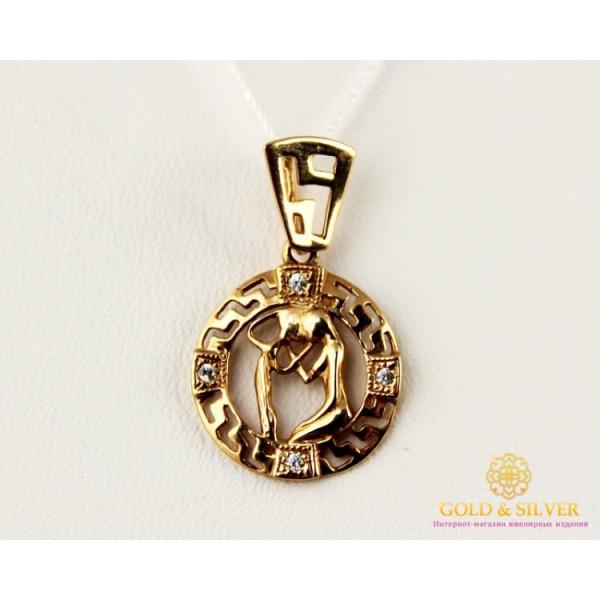 Золотой Кулон 585 проба. Подвес с красного золота, Знак Зодиака Водолей 33031 , Gold & Silver Gold & Silver, Украина