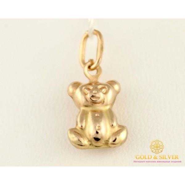 Золотой Кулон 585 проба. Подвес с красного золота, Медвежонок 50102 , Gold &amp Silver Gold & Silver, Украина